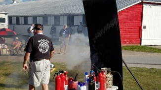 Learning RV fire safety (fire extinguishers)